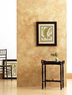 Color-washed walls bring movement and drama to a room's vertical surfaces. The technique is simple to master and you can layer on as many tones as you like; the more layers you add, the more interesting the finish.