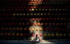 Photo graphique : Mur coloré à Kuala Lumpur