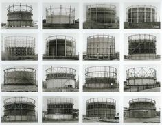 Bernd and Hilla Becher& industrial scenes Industrial Photography, Contemporary Photography, Urban Photography, Artistic Photography, Street Photography, Photography Sketchbook, Architectural Photography, Bernd Und Hilla Becher, Industrial Architecture