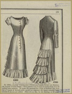 Ladies' combination petticoat, corset-cover and bustle; or, ladies' under-dress. (1879-1880)