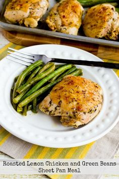 Kalyn's Kitchen®: Roasted Lemon Chicken and Green Beans Sheet Pan Meal