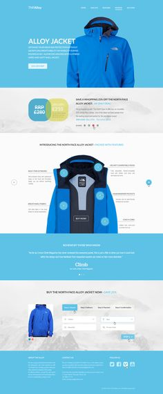 Free flat website PSD - TNF Alloy by robby-designs