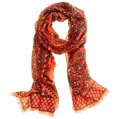 Vibrant paisley scarf, found on polyvore.com