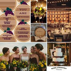Wine Barrel Room Wedding Inspiration with Barrel Room Wedding Invitations for a vineyard wedding. - Wine Country Occasions, www.winecountryo...