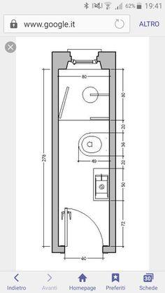 Bathroom Layout Plans, Small Bathroom Layout, Bathroom Floor Plans, Narrow Bathroom, Tiny Bathrooms, Tiny House Bathroom, Mini Bad, Bathroom Dimensions, Small Bathroom With Shower