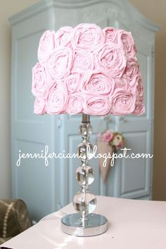 Shabby chic lamp shabe for my daughters room.