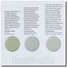 House Beautiful Paint Color Experts- 12 Swedish Gustavian Paint Colors - Designers Picks