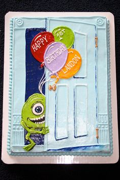 Cake Wrecks - Home - Sunday Sweets: Childhood Friends Monster University Cakes, Monster Inc Cakes, Monster Birthday Cakes, Monster Inc Party, 1st Birthday Cakes, Birthday Ideas, Birthday Parties, Ugly Cakes, Mike From Monsters Inc