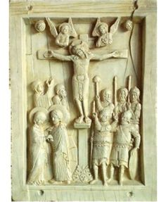 Byzantine Crucifixion Tablet Stone Relief Plaque