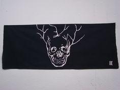 "share-atama...skull  c/# black   tenugui ""cu3"""
