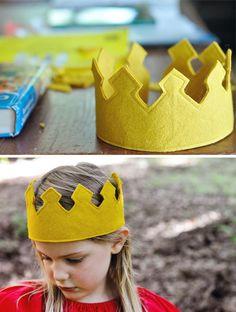 Para aprender a fazer essa coroa de feltro, clique na imagem e veja o passo a passo.