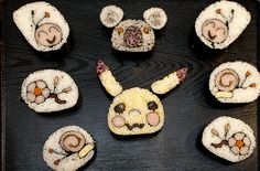 Various Designs (Sushi)...i dont eat sushi but this is cool