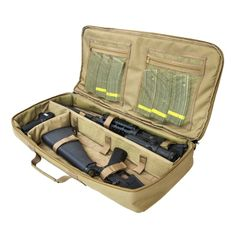 "NcSTAR 42/"" Black Double Carbine .223 5.56 Padded MOLLE Pouch Rifle Gun Case Bag"