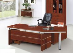 Incredible Executive Office Desk Factory Customize Two Layer Executive Office Desk In Wood Tables - Furniture is an essential part of your office. Wood Office Desk, Wood Desk, Office Desks, Office Spaces, Modular Furniture, Cool Furniture, Modern Executive Desk, Law Office Design, Contemporary Office Desk
