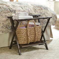 Porta Baggage Rack | Ballard Designs, guest room