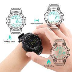 EiffelT Outdoor Bluetooth Sport Watch Wristwatch, Waterproof IP67 Multifunctional Sport Watch for Android and IOS Smartphone (Black) 25.99  #100%professionalwaterproof:5ATMorIP67professionallywaterproofforallweather,thehighestwaterprooflevelwearablesportsmartwatch. #4326580694 #Black #EiffelT...