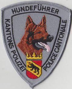 BERN (SCHWEIZ) Polizei Abzeichen. Polizeiabzeichen (HUNDEFÜHRER K9 MALINOIS)