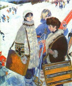 О. Богаевская. Зимние каникулы. 1985