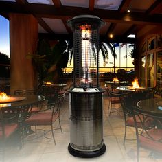 This Lava Heat Milano Natural Gas Patio Heater is made of commercial-grade materials with electrostatic powder coating to resist rust, chips, scratches, or peeling. It also feature Signature Column of Flame and patented latching door storage compartment all for Sale Price :$1,199.00. PatioShoppers.com Product ID : LHI-MILANO-36BTU-NG #PatioHeater