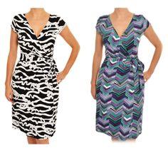 Ann Taylor Vneck Wrap Dress Side Tie Belt Short Cap Sleeve Knee Length Stretch  #AnnTaylor #WrapDress #Casual