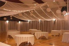 banquet hall wedding decor