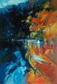 Ken Strong 'Autumn Depth - Pittwater' 122cm x 84cm #14604