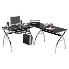 Found it at Wayfair - L-Shaped Computer Desk in Chrome & Blackhttp://www.wayfair.com/daily-sales/p/Work-from-Home-in-Style-L-Shaped-Computer-Desk-in-Chrome-%26-Black~TMB1160~E13114.html?refid=SBP.rBAZKFP7b4MPs1xM-61mAidcwfpZRUgVlbjjYUy1-lM