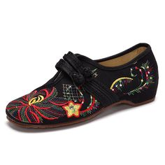 8e334c5c141 Big Size Flower Embroidered Chinese Knot Vintage Flat Casual Loafers is  cheap and comfortable. There are other cheap women flats and loafers online  Mobile.