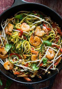 """Zucchini Pad Thai Noodles """"Zoodles"""""""