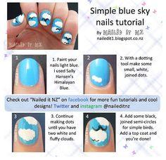 DIY sky nails