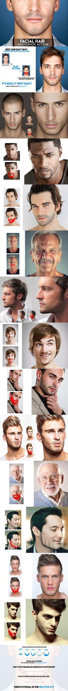 Facial Hair Photoshop Action