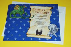Knights and Dragons Birthday Invitation by Simply Sweets, via Flickr