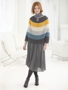 Lion Brand Yarn has over free knitting and crochet patterns of various colors, sizes and project types. Each one uses Lion Brand yarns and ranges from beginner to expert skill level. Poncho Knitting Patterns, Knitted Poncho, Free Knitting, Crochet Patterns, Free Pattern Download, Chunky Wool, Lion Brand Yarn, Knitting Projects, Sewing Projects