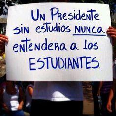 por los estudiantes