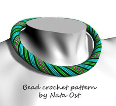 Bead Crochet rope pattern necklace or bracelet Summer by NataOst