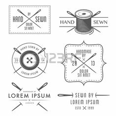 Set of vintage tailor labels and emblems Stock Photo - 23283707