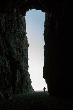Across the long tall doorway