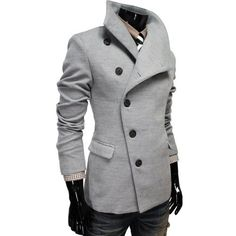 TheLees Mens Unbalance High Neck Slim PEA Coat Jacket Gray XX-Large(US X-Large) TheLees,http://www.amazon.com/dp/B006740KJO/ref=cm_sw_r_pi_dp_jOc3qb1A4VD1FWTD