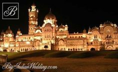 Lakshmi Vilas Palas, Vadodara, India at night ~ built over 100 years ago for Indian royalty by Englishman Major Charles Mant, who committed suicide for fear his calculations were wrong and the palace would fall down. Best Wedding Planner, Government Jobs, Famous Places, Buckingham Palace, India Travel, Incredible India, Tourism, Beautiful Places, Places To Visit