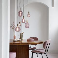 Pink Large Light Bulbs Creative Light Bulb Ideas for Homes and Hotels Beautiful Quartz Pink Light Bu Light Fittings, Light Fixtures, Led Color, Living Room Decor, Bedroom Decor, Bedroom Shelves, Bedroom Signs, Bedroom Ideas, Master Bedroom