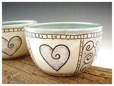 Pottery Bowl in Turquoise with Purple Heart Design - Dessert Bowl - by DirtKicker Pottery click now to see more. Pottery Bowl in Turquoise with Purple Heart Design - Dessert Bowl - by DirtKicker Pottery click now to see more. Ceramic Clay, Ceramic Painting, Ceramic Plates, Pottery Bowls, Ceramic Pottery, Pottery Art, Pottery Painting Designs, Pottery Designs, Clay Bowl