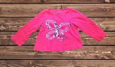 Girls Butterfly Shirt (Size: 24 Months)