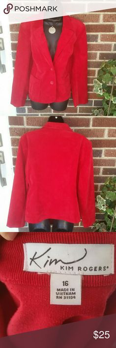 KIM ROGERS ♡ Cute Corduroy♡ Blazer Like brand new condition! Kim Rogers Jackets & Coats
