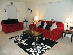 black n white and red all over my living room favorite places rh pinterest com Modern Living Room Ideas Brown Living Room Ideas
