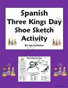 Christmas writing assignment a letter to santa claus in spanish three kings day holiday bilingual spanishenglish shoe activity worksheet from sue summers on teachersnotebook 1 page includes a word bank with 15 spiritdancerdesigns Image collections