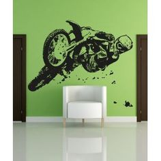 Motocross wall decal for the baby boys room
