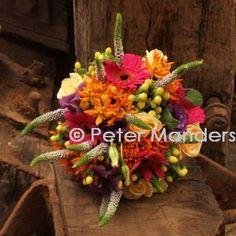 bruidsboeket kleurrijke zomer   weddingbouquet colorfull summer