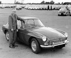 MGB GT 1968 and Syd Enever, father of the MGTD, MGTF, MGA and MGB