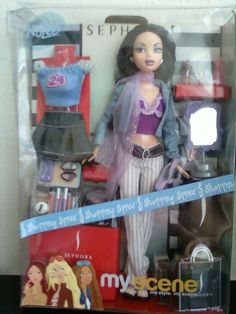 My Scene Nolee Barbie Doll Sephora Shopping Spree Extra Clothes New Rare