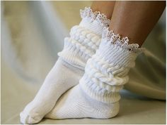 lace socks super thick slouch socks womens socks work out socks slouch socks ladies lace hosiery CUDDLE BUNNY White Catherine Cole Combat Boots Socks, Lace Boot Socks, Boot Cuffs, Shoe Boots, Ankle Socks, Women's Shoes, Slouch Socks, Frilly Socks, Boots For Short Women
